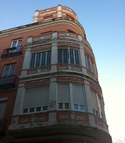 antes rehabilitación del edificio Madrid y Guadalajara